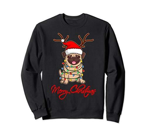 MERRY CHRISTMAS MOPS Ugly Christmas Lustige Hunde Geschenk Sweatshirt