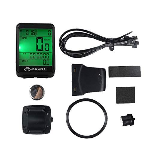Iwähle Fahrrad Speedometer Tachometer Codetabelle Kilometerzähler, Bicycle Computer Waterproof Wireless LCD Odometer