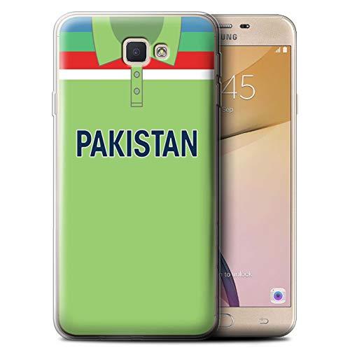 eSwish Gel TPU Hülle/Case für Samsung Galaxy J5 Prime/G570 / Pakistan/Pakistanisch Muster/Retro Cricket Weltmeisterschaft 1992 Kollektion