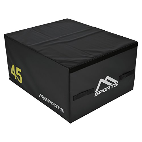MSPORTS Plyo Box Professional 3-teilig | Jump Box Set • Plyo Box • Sprungbox • plyometrisches Training (Schwarz - 90 x 75 x 45 cm)