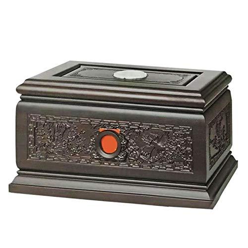 WANGQW Cremación de artesanía de Madera urna/para siemp Urnas de cremación de Jarra de Recuerdo Humano para Cenizas Adultas, magnífica Resistencia a la oxidación de la urna de Madera