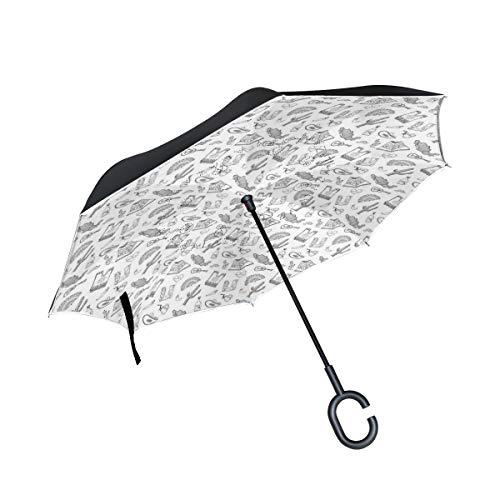 Soloatman Mexico Paraguas de Viaje Compacto y Ligero con ventilación, Resistente al Viento y al Sol