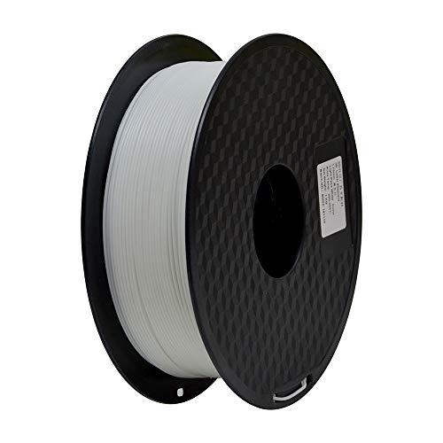 TEQStone Filamento ABS 1,75 mm 1 kg per stampanti 3D e penne 3D in confezione sottovuoto (Bianca), 1