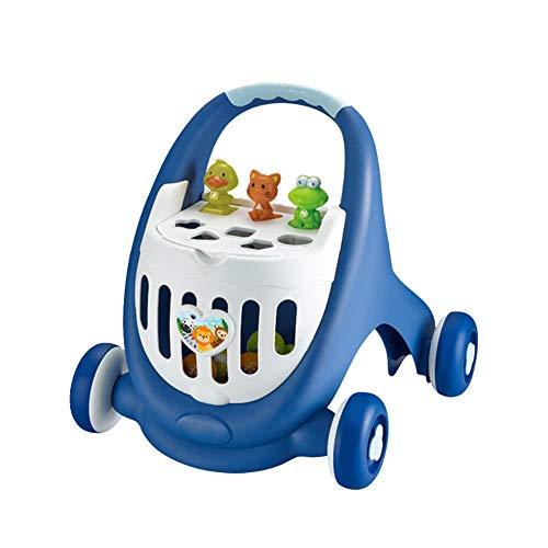 LGLE Girello per Bambini Passeggini per Bambini Passeggini Carrello Antiribaltamento Multifunzionale Giocattoli Struttura Meccanica Ruota Antiscivolo,Blue