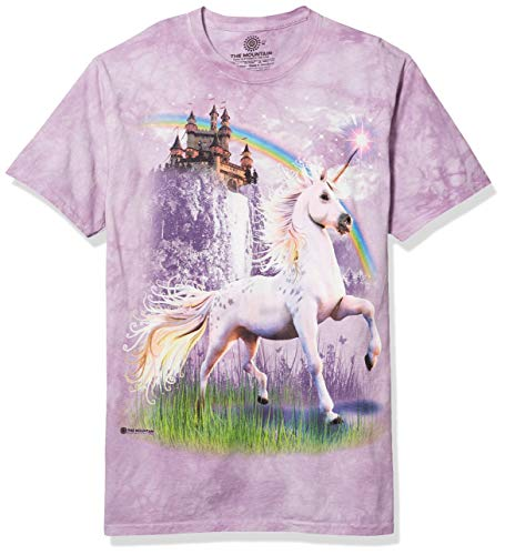 The Mountain Unisexe Adulte Chateau Et Licorne T Shirt M