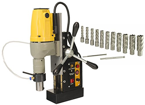 Steel Dragon Tools MD40 Magnetic Drill Press with 13pc 2in. HSS Annular Cutter Kit