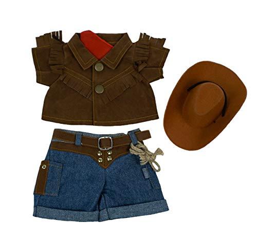 Traje de Vaquero con Sombrero para Peluche de 20 cm - Ropa