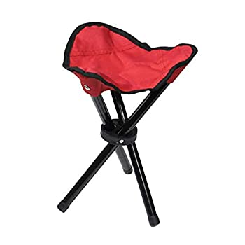 Clear Fayer Large Slacker Chair Folding Portable Travel Tripod Stool Outdoor Camping Fishing  red