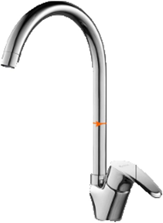 CTREKE Becken Wasserhahn Küchenspüle Mischer Bad Wasserhahn hei und kalt herausziehen rotierenden einzigen kalt C