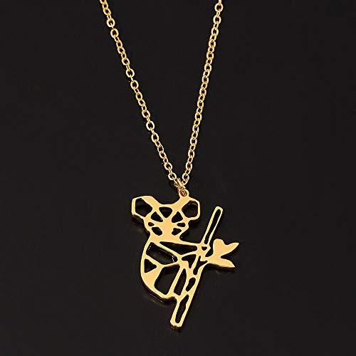 Collar Colgante Joyería Collar con Colgante Irregular De Color Plateado, Cadena De Eslabones, Accesorios De Joyería De Hip Hop para Mujeres-Koala_1