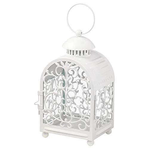 IKEA/イケア GOTTGORA:メタルカップ入りキャンドル用ランタン室内/屋外用26 cm ホワイト (203.414.75 )