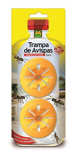 PREBEN 231400 Trampa Avispas, Amarillo, 8.6x26.5x2 cm