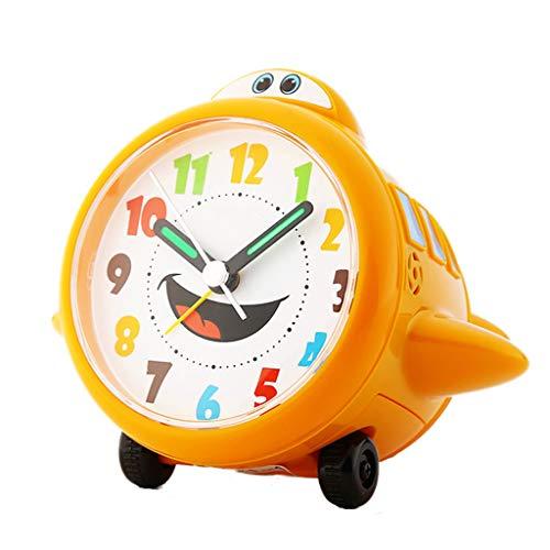 XT Silent Alarm Clock Creative Student Cartoon Kinderen wekker Lazy Slaapkamer Bedside elektronische klok (Color : Orange)