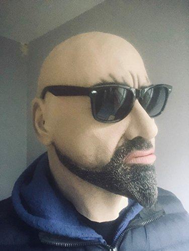 B-Creative Realistische Witte Man Harde Man Masker Latex Vermomming Halloween Fancy Jurk Geit