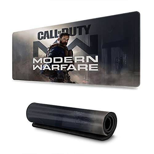 Call of Duty Modern Warfare Cute Mouse Pad Anime Gaming Large Non-Slip Rubber Mouse Pad with Stitched Edges for Office & Home 31.5 X 11.8 Inch