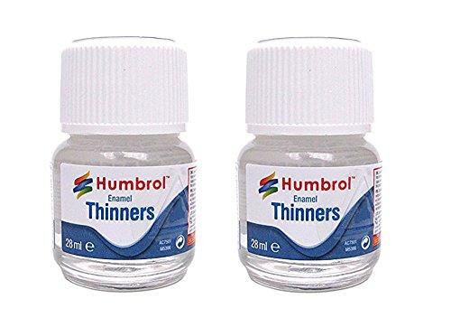 Humbrol 7501. Pack 2 botes de disolvente para pinturas esmalte de Humbrol. 28 ml cada uno