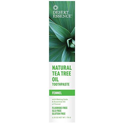 (4 Pack) - Desert Essence - Tea Tree Toothpaste Fennel | 185ml | 4 Pack Bundle