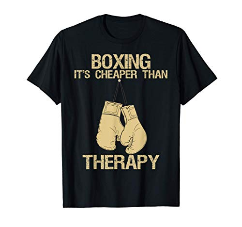 Boxing Is My Therapy - Funny Joke Boxer and Kickboxer Humor Camiseta