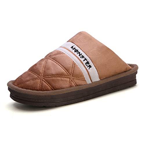 SSN Online De Algodón De Invierno De Invierno para Hombre Zapatillas De Algodón De La Moda De Algodón De La Moda De Algodón Antideslizante Chanclas Cómodas Zapatillas De Casa Hombre