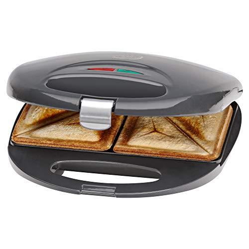 Bomann ST 5016 CB Sandwich-Toaster mit Antihaftbeschichtung und Überhitzungsschutz, grau