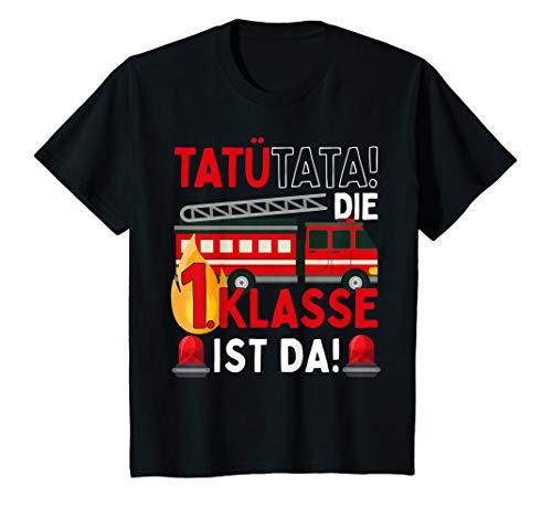 Kinder Einschulung 2020 Junge Feuerwehr 1. Klasse Spruch Geschenk T-Shirt