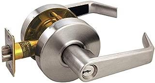 Door Lever Lockset, Angled, Storerm, Grade2