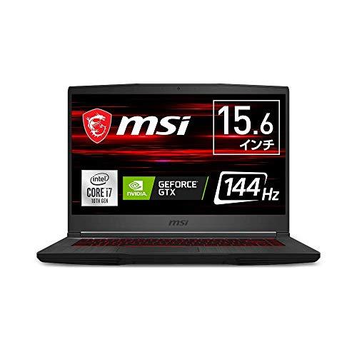 【薄型・軽量・ハイスペック】MSIゲーミングノートPC GF65 1.86KG Win10 i7 GTX1660Ti 15.6FHD 144Hz 16GB 512GB GF65-10SDR-1018JP