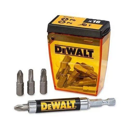 Dewalt DT71511-QZ Juego de 16 piezas Para atornillar. 15 Puntas de 25mm: Ph2, Pz2 x6, Pz3 x3, T20, T25 x2 y guía magnética compacta