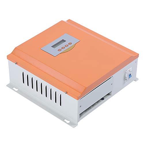 Nannday Solarladeregler, 24V 100A Solarladeregler PWM Solarregler Monitor Regler für erneuerbare Energien mit LCD Display