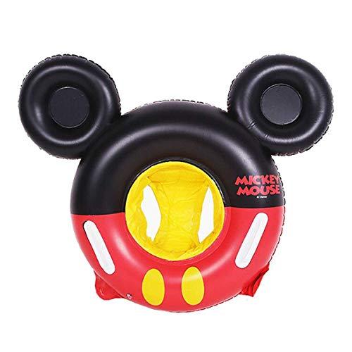 Flotador de natación de Mickey Mouse de dibujos animados de los niños del bebé anillo de natación inflable piscina flotante redonda de los niños de juguete flotador grueso