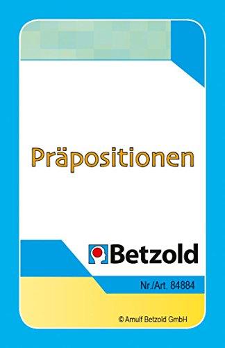 Betzold 36 Spielkarten Präpositionen, im praktischen und stabilen Kunststoffetui - Deutsch Lernspiele DaZ DAF Sprachförderung