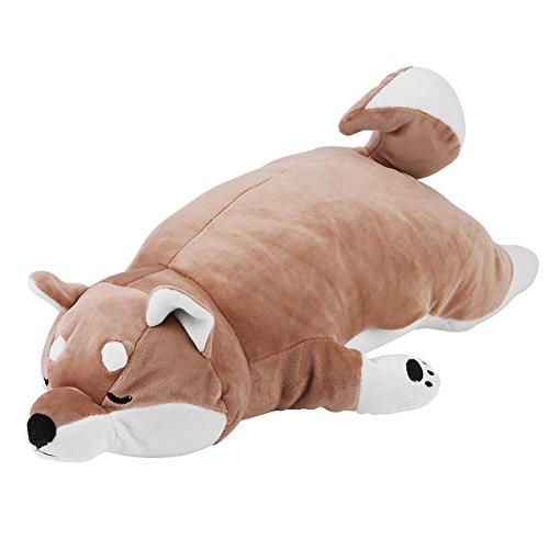 Juguete de peluche para perros durmientes, juguete de felpa japonés suave y encantador para perros Shiba Inu Cute Puppy Shape Sleeping Pillow para niños 55 cm
