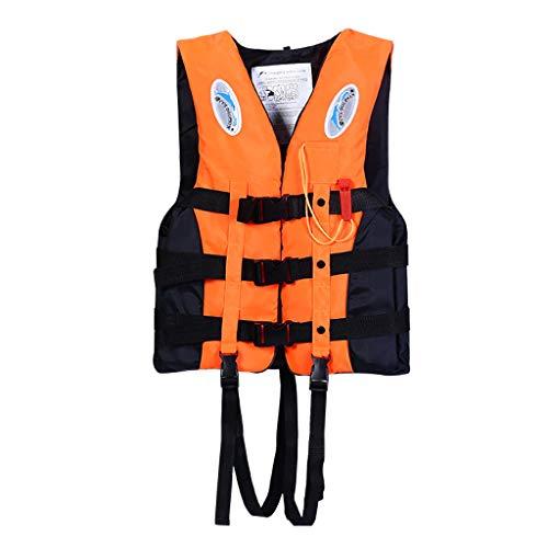Erwachsene Kinder Schwimmweste Kajak Happy Event Ski Schwimmweste Segeln Angeln Wassersport - Kanu Kajak Beiboot Jacke - Unisex - Leichtgewicht (Orange, XL)