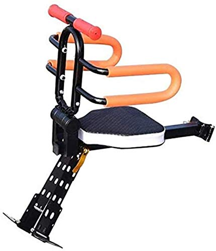Sale!! Mountain Portable Bicycle Front-Mount Child Bike Seat Quick Dismounting Baby Safety Seat Bikes Outdoor Riding Sport Protect Kids Seat (Color : Black)