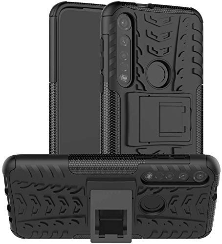 Newlike Motorola Moto G Power, Back Cover, Premium Real Hybrid Shockproof Bumper Defender Cover, Kick Stand Hybrid Desk Stand (Black) Back Case Cover for Motorola Moto G Power