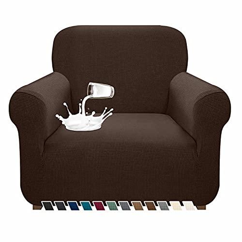 Pitpet - Funda de sofá impermeable de alta elasticidad, supersuave, para sillón con brazos, con varillas de espuma antideslizante,...