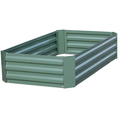 Aoodor Raised Garden Bed Vegetable Plants Furits Planter Box 120 x 90 x 30...