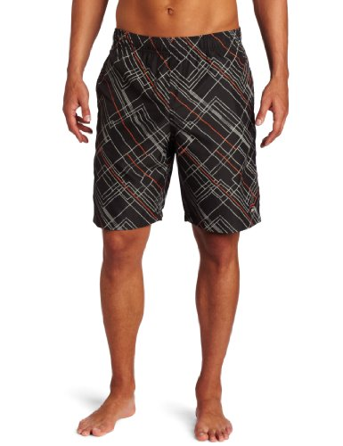 Fila Men's Baseline Plaid Short, Grey, XX-Large