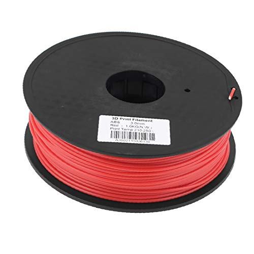 X-DREE Red 3mm high Performance ABS 1kg/2.2lb 3D Printer Essential Filament for RepRap Well Made Ultimaker Makerbot