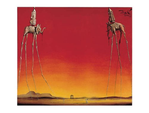 Salvador Dalí Poster/Kunstdruck Les Elephants 80 x 60 cm