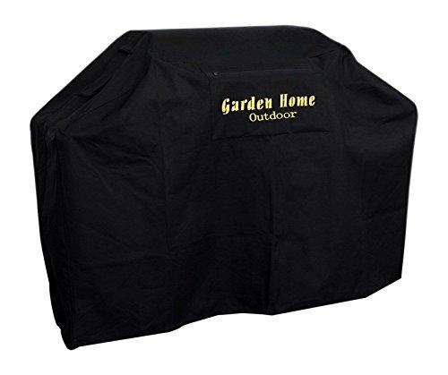 Mejor Garden Home Outdoor Grill Cover 72-Inch for Weber, Holland, Jenn Air, Brinkmann and Char Broil, Black crítica 2020