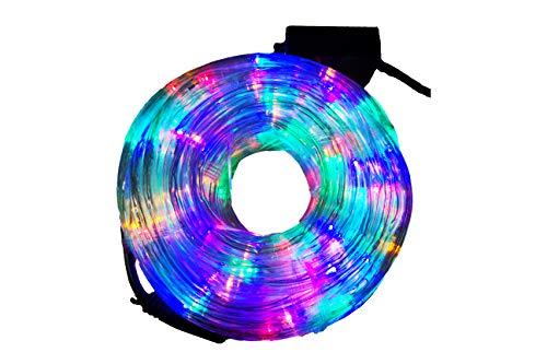 Luces de Navidad, Maguera LED 10 metros Multicolor, tubo flexible con manguera transparente 120v- 20w , manguera LED Navideña, 8 modos de iluminacion con control ideal para decoracion de residencias, comercios, jardines, bodas, arboles de Navidad, patios, fiestas, y eventos especiales