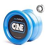 YoyoFactory One Yo-yo - Azul (De Principiante a Profesional, Cuerda e Instrucciones Incluidas)