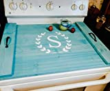 Farmhouse Noodle Board - Choose Stove Oven Cover, Sink Cover, Serving Tray, Farmhouse Decor, Monogram Personalized Kitchen Storage, Asst Colors