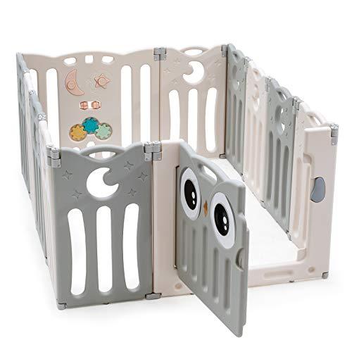 COSTWAY Parque Infantil Bebé de 12 Paneles Plegable Centro de Actividad para...
