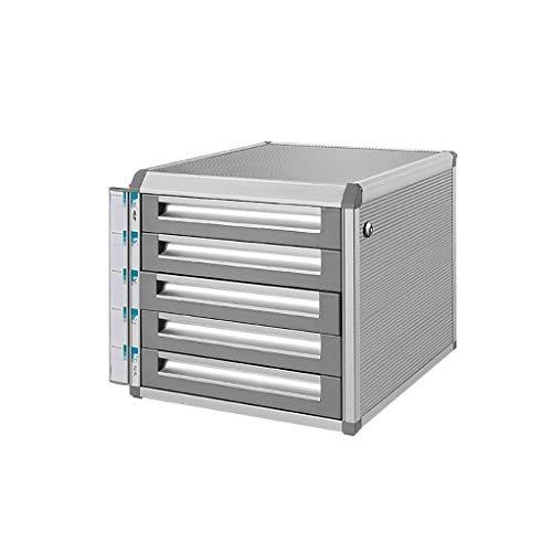 Gabinetes de arquivos Gabinete de arquivos Liga de alumínio de mesa de trabalho Classificador de gavetas Gabinete de armazenamento Caixa de arquivos Material de escritório Material de escritório