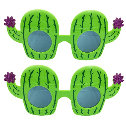 VALICLUD 2 Pairs Lustige Sonnenbrille Photo Booth Sonnenbrille Kaktus Form Sonnenbrille Kostüm Brillen für Sommer Party Favors