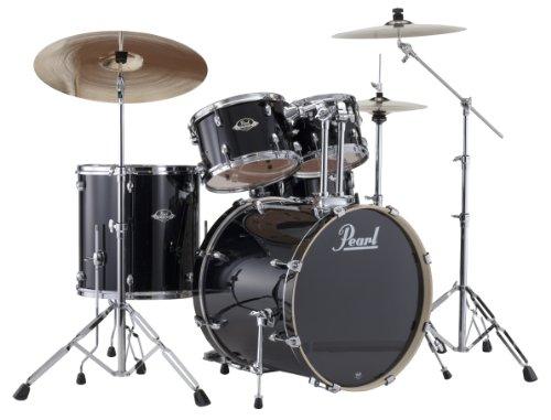 Pearl EXX725S/C 5-Piece Export New Fusion Drum Set with Hardware - Jet Black