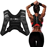 dimok Weighted Vest 12lbs Cardio Strength Workout Equipment Body Weight Vest for Running Men Women Youth (Black, 12 Pounds)