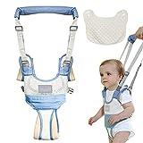 MUSEDAY Arnés Bebe para Caminar Arnés de Seguridad para Caminar Ajustable Arnes Bebe para Caminar Primeros Pasos Andador Arnes Bebe con Hebilla de Seguridad para Bebé de 8-24 Meses(Azul)